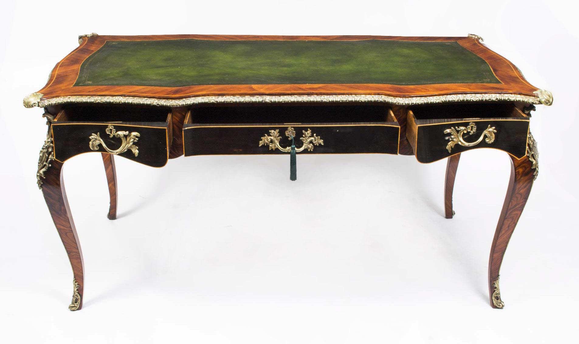regent antiques desks and writing tables antique french writing table desk bureau plat. Black Bedroom Furniture Sets. Home Design Ideas