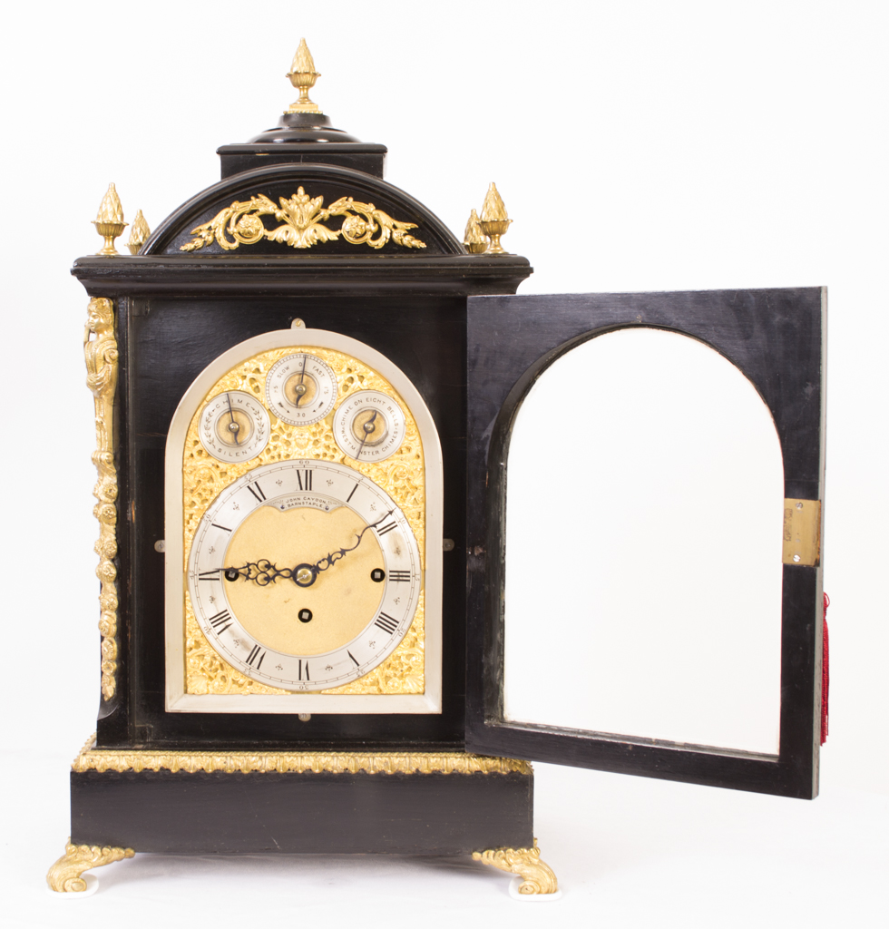 Regent Antiques Clocks Antique Ebonised Gilt Bronze  : 06216 Antique Ebonised Gilt Bronze Chiming Mantel Clock c1860 2 from regentantiques.com size 980 x 1024 jpeg 552kB