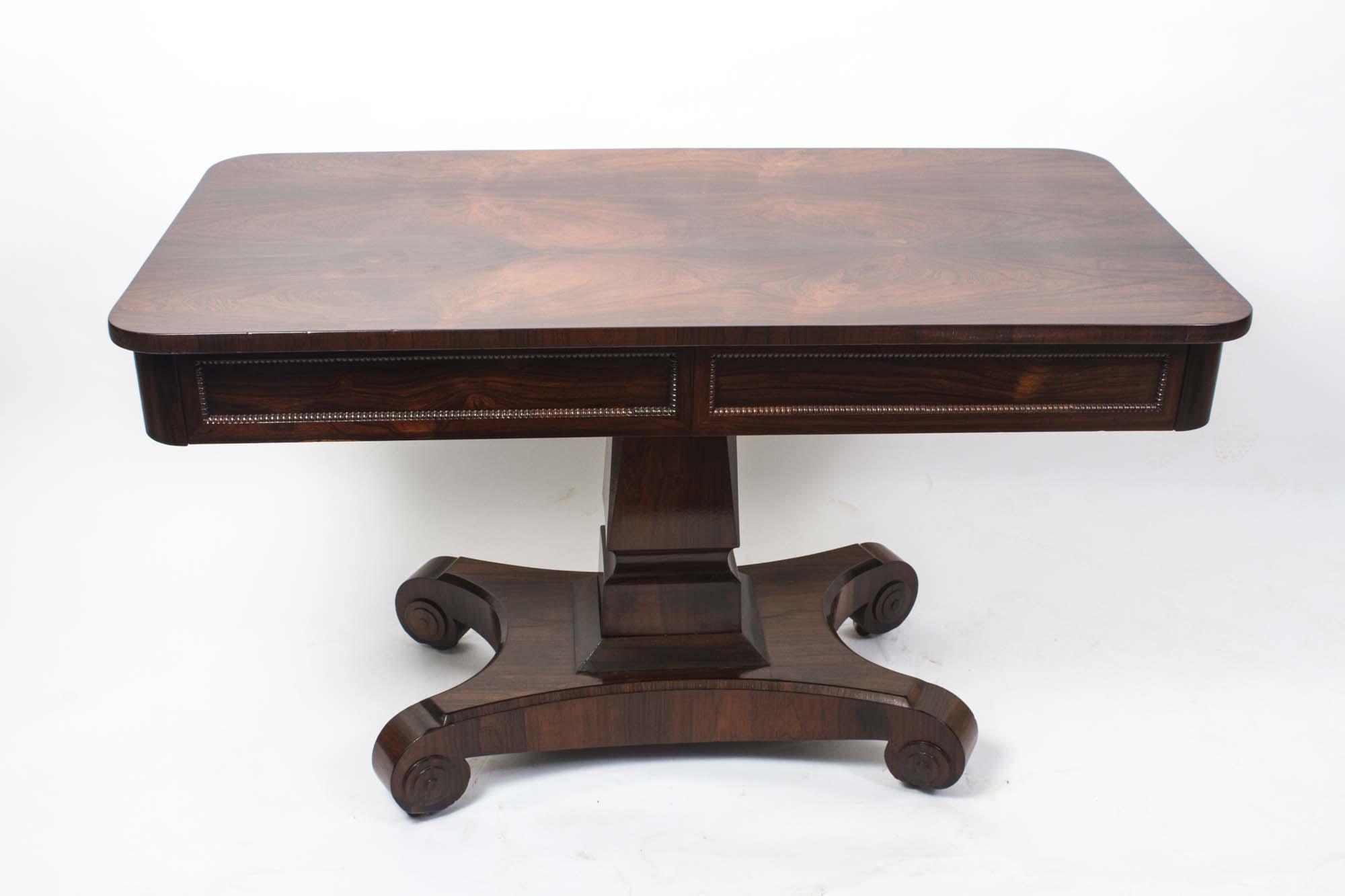 Antique Wiliam IV Rosewood Writing / Sofa Table C.1830