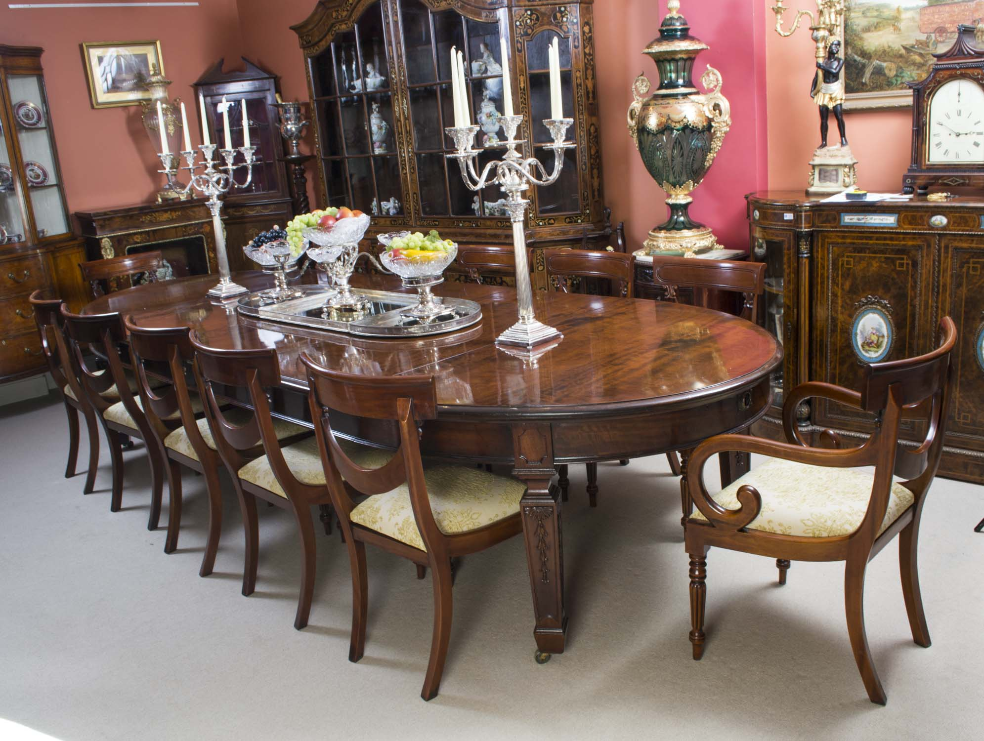 Regent antiques dining tables and chairs table and for 12 chair dining table