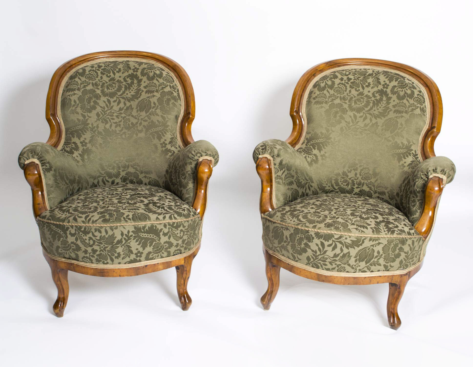 Antique victorian armchair - 06254 Antique Pair Victorian Mahogany Armchairs C 1880