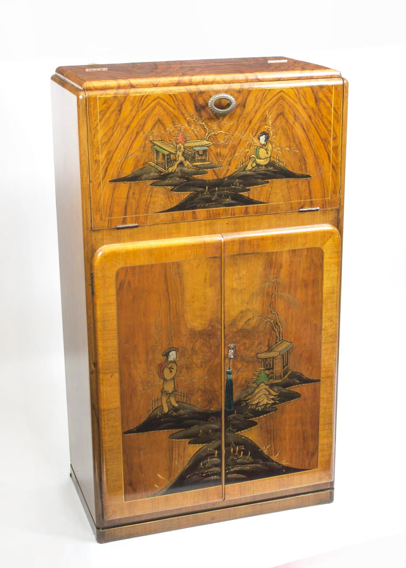 06324 antique art deco chinoiserie cocktail cabinetc c art deco furniture style art
