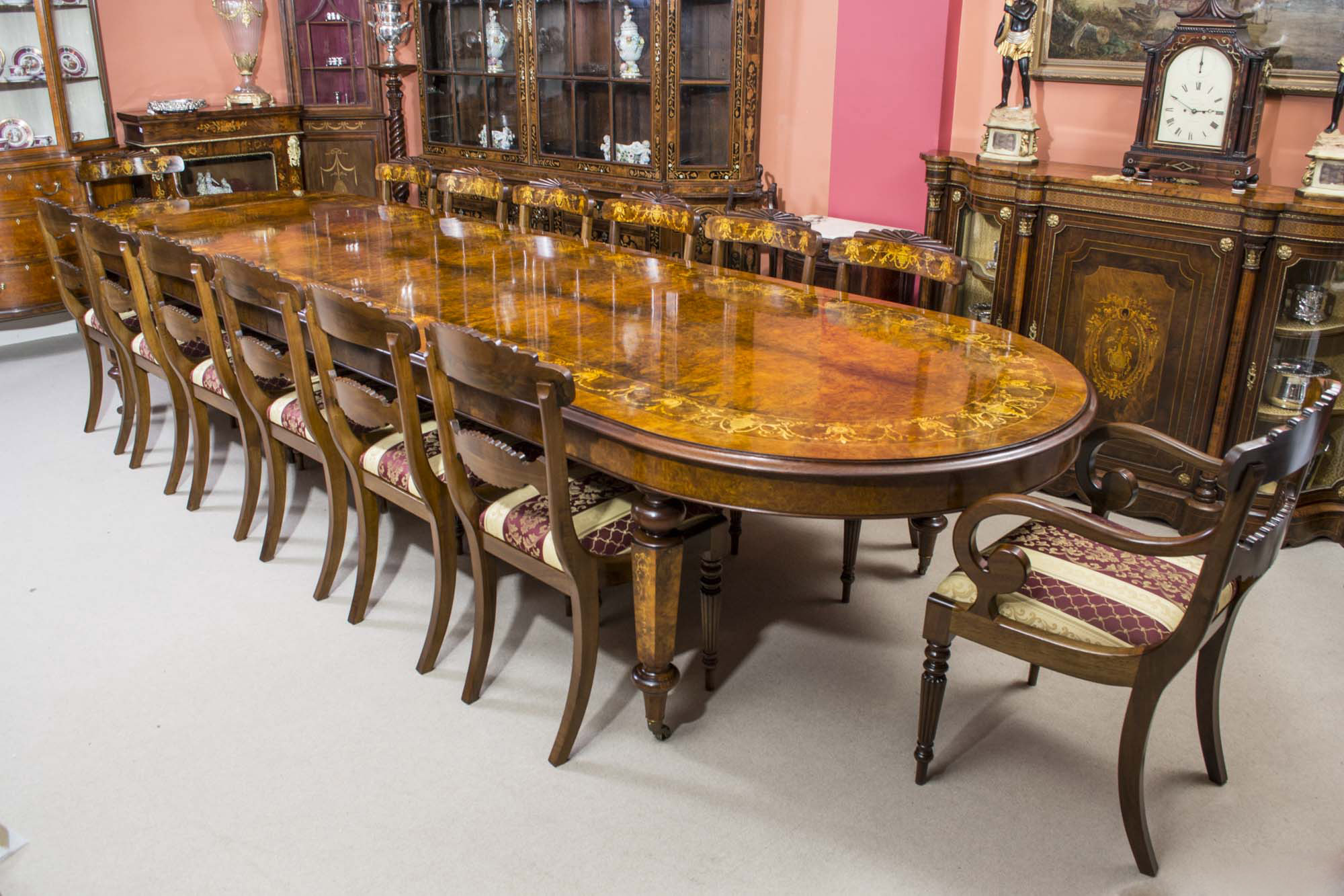Regent antiques dining tables and chairs table and for 14 seater dining table