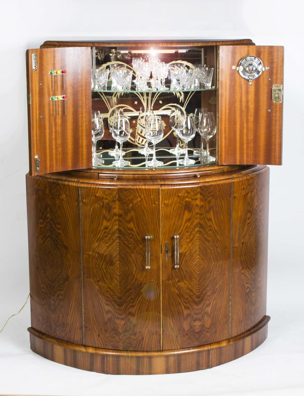 regent antiques cabinets antique art deco burr walnut cocktail bar. Black Bedroom Furniture Sets. Home Design Ideas