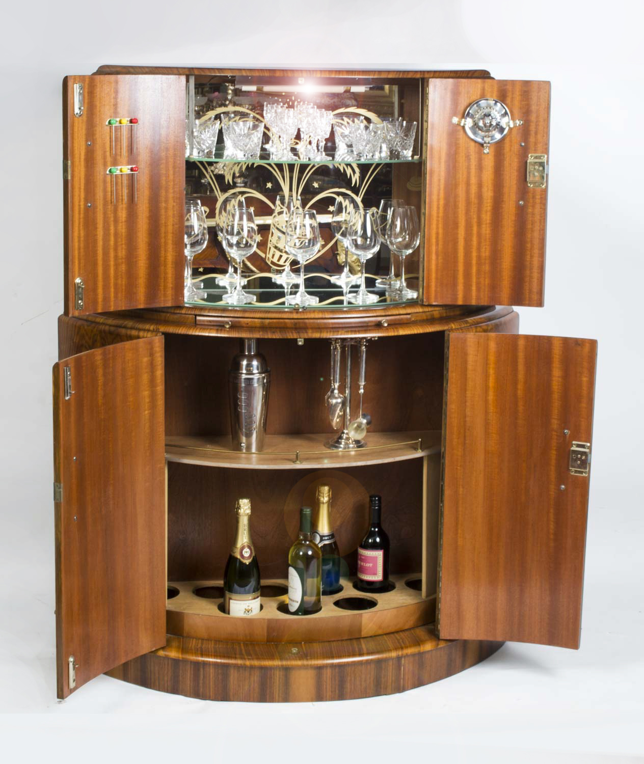 regent antiques cabinets antique art deco burr walnut cocktail bar. Black Bedroom Furniture Sets. Home Design Ideas