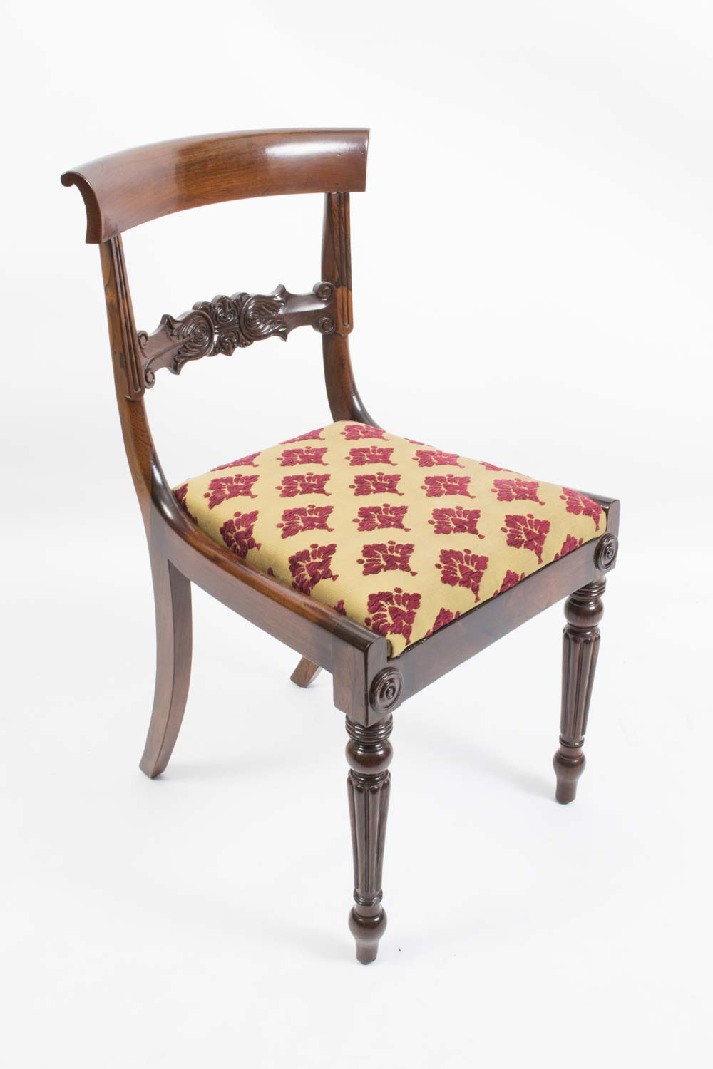 Regent Antiques Dining tables and chairs Dining chairs  : 06383 Antique Set 6 William IV Rosewood Dining Chairs c1835 19 from regentantiques.com size 1000 x 1500 jpeg 94kB