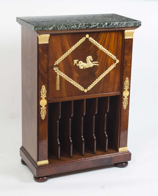 Antique French Empire Music Cabinet Ormolu C.1830 Ref. No. 06406 - Antique Music Cabinets Antique Furniture