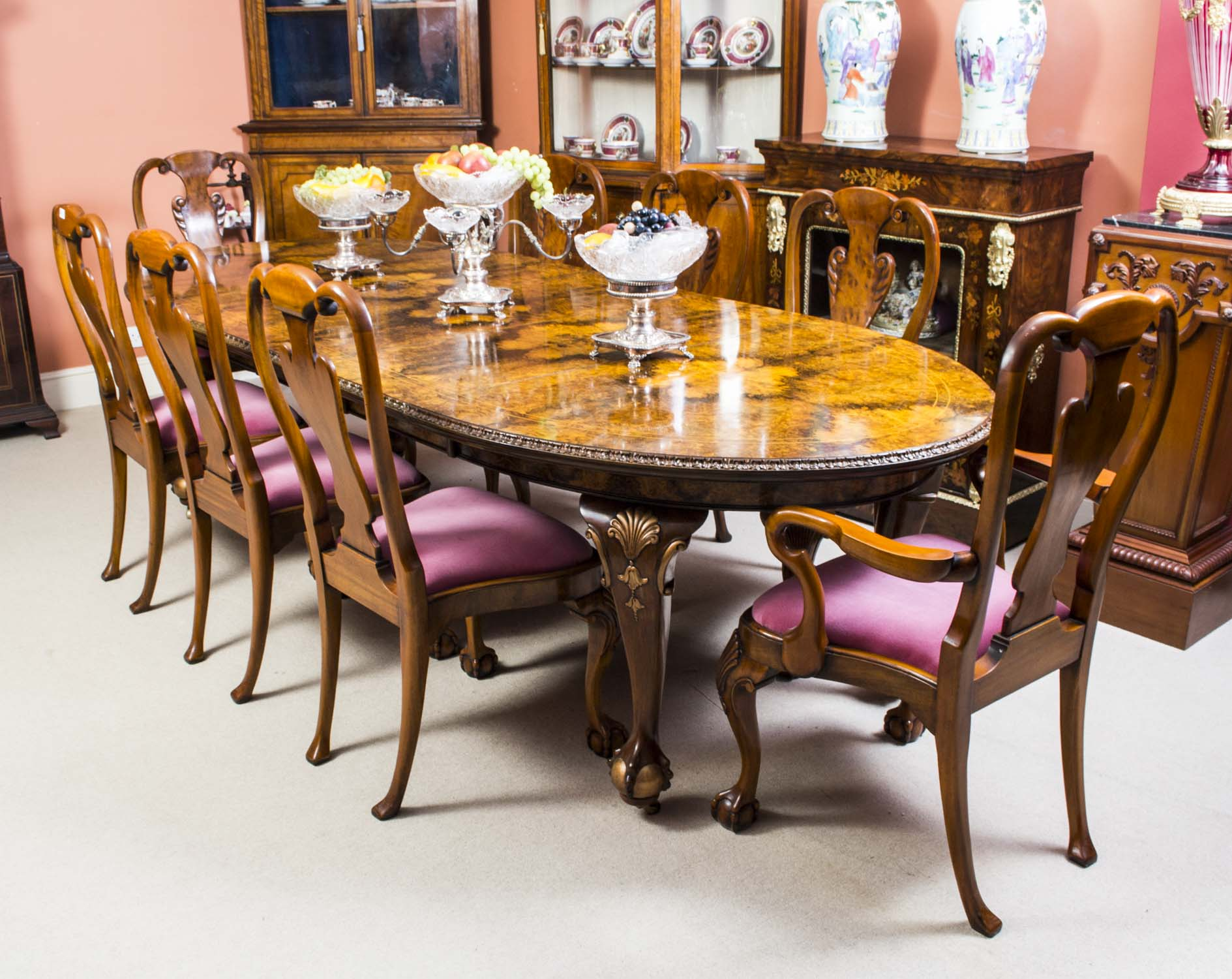 regent antiques dining tables and chairs table and chair sets antique queen anne style. Black Bedroom Furniture Sets. Home Design Ideas