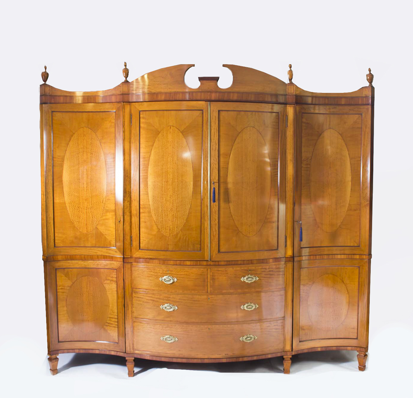 Regent Antiques Bedroom Furniture Wardrobes Antique English Satinwood Tulipwood Wardrobe