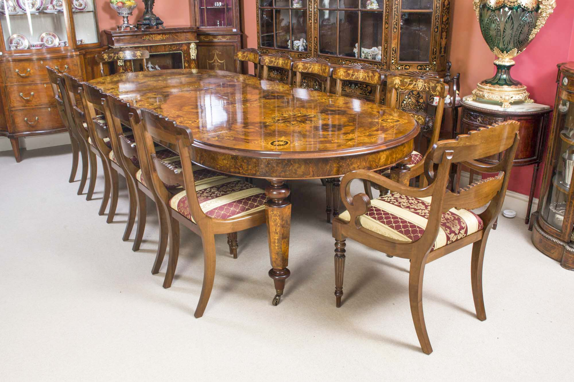 regent antiques dining tables and chairs table and chair sets victorian marquetry walnut. Black Bedroom Furniture Sets. Home Design Ideas