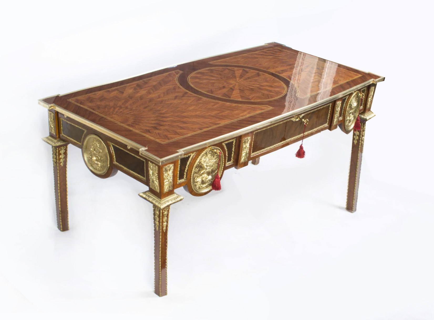 empire style bureau plat writing table ormolu mounts. Black Bedroom Furniture Sets. Home Design Ideas