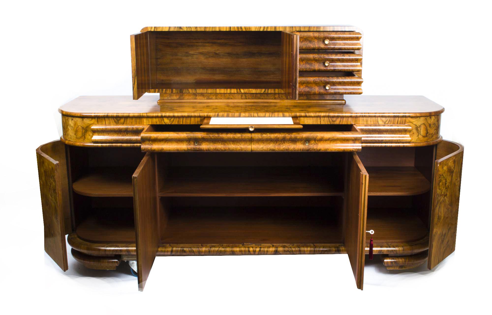 regent antiques sideboards antique art deco walnut sideboard drinks cabinet c1920. Black Bedroom Furniture Sets. Home Design Ideas