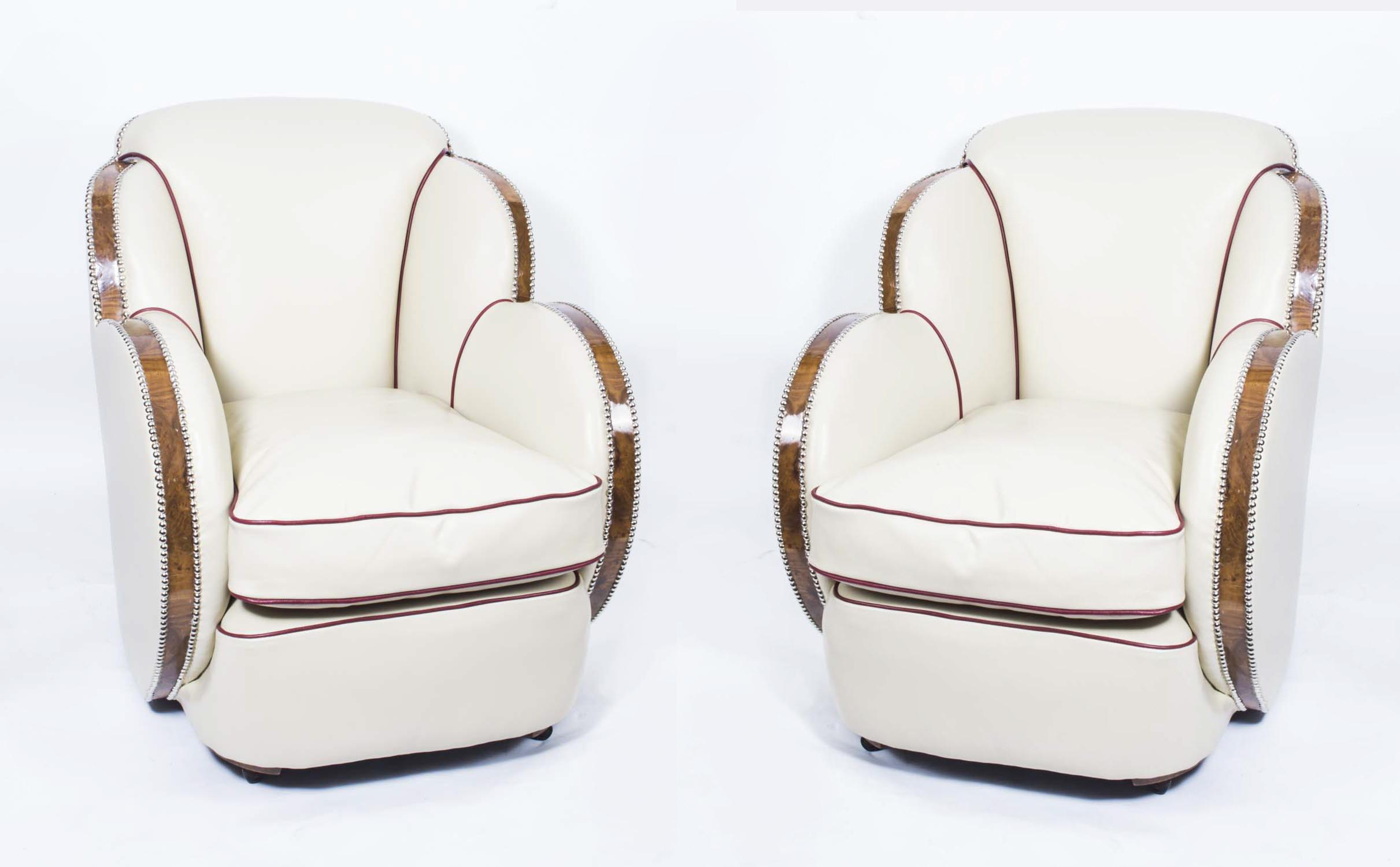 Epstein Art Deco Cloud Armchairs   Antique Art Deco Cloud Armchairs   Ref.  No. 06542