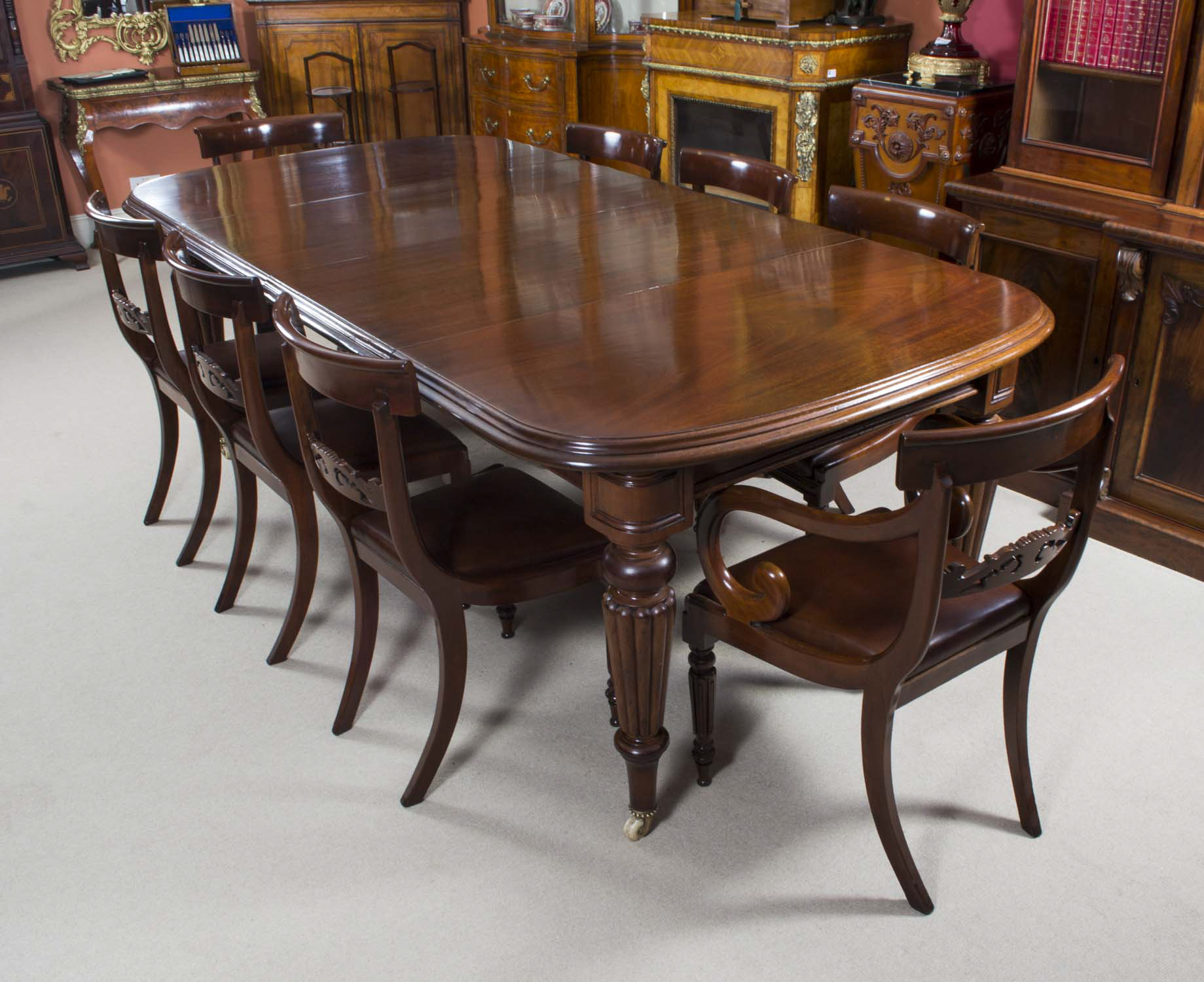 Antique Victorian Mahogany Dining Table 8 Regency chairs : 06608a Antique Victorian Mahogany Dining Table 8 Regency chairs 1 from www.regentantiques.com size 1839 x 1500 jpeg 792kB