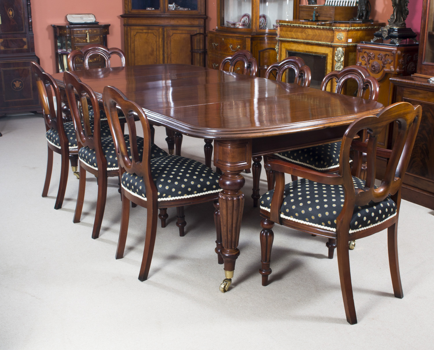 Regent Antiques Dining tables and chairs Table and  : 06608b Antique Victorian Dining Table 8 Admiralty back chairs 23 from www.regentantiques.com size 1500 x 1209 jpeg 608kB
