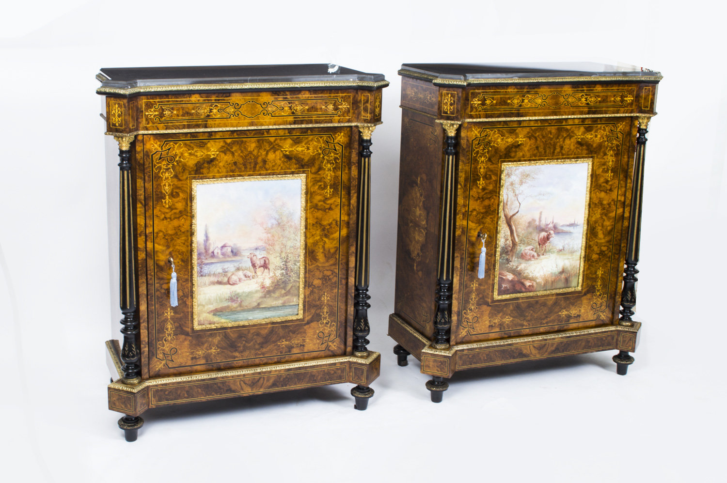 Regent antiques cabinets antique pair pier cabinets for 1880 kitchen cabinets