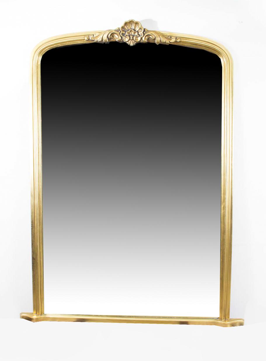 Regent antiques mirrors large elegant giltwood for Overmantle mirror