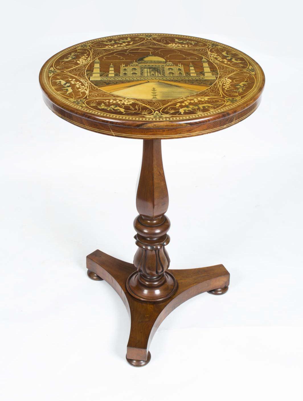 Antique William Iv Mahogany Taj Mahal Occasional Table