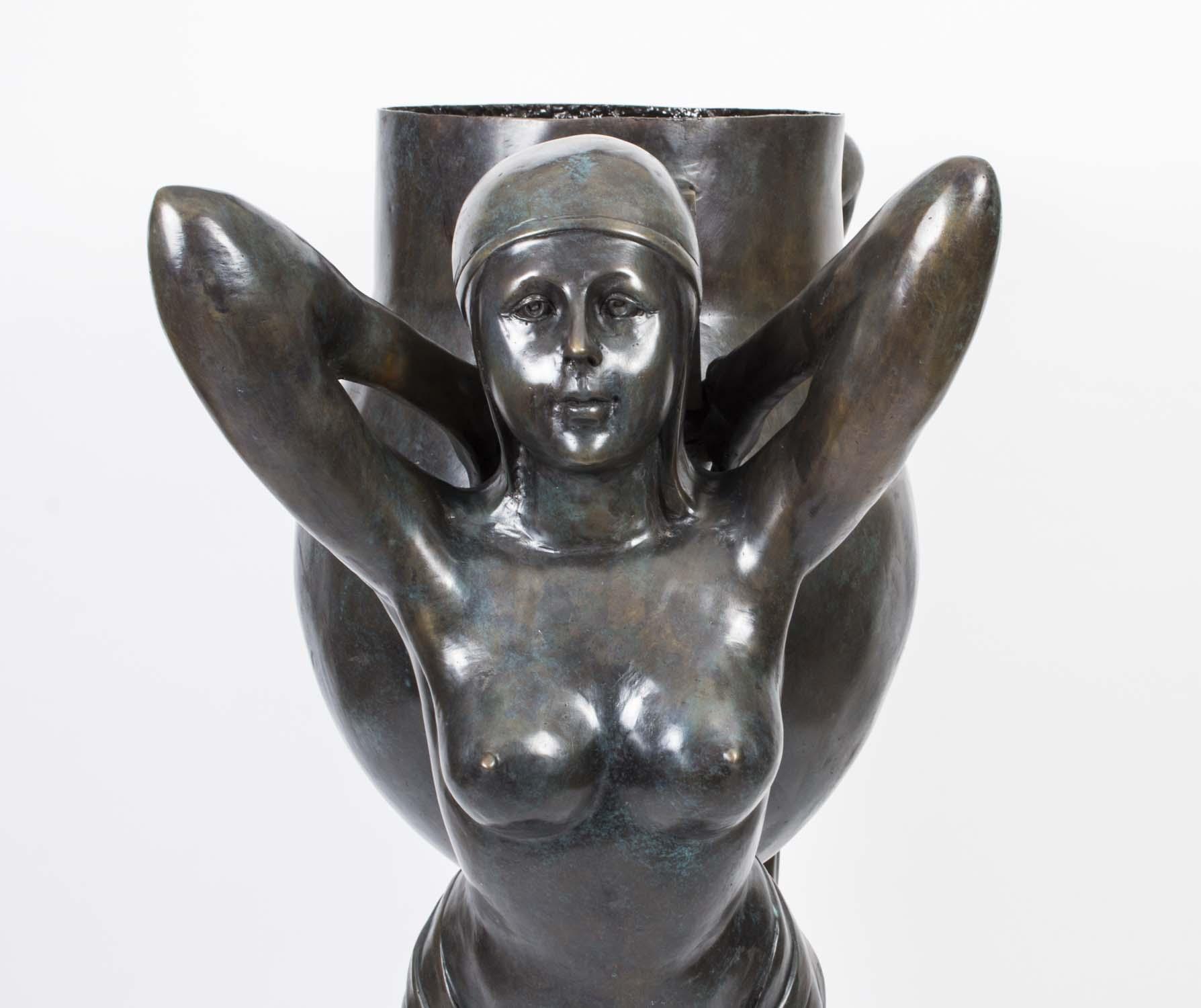regent antiques bronzes art deco bronze biba ladies jardiniere the water carriers. Black Bedroom Furniture Sets. Home Design Ideas