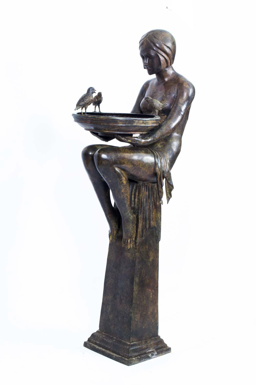 huge bronze art deco jardiniere on stand ref no 06759. Black Bedroom Furniture Sets. Home Design Ideas