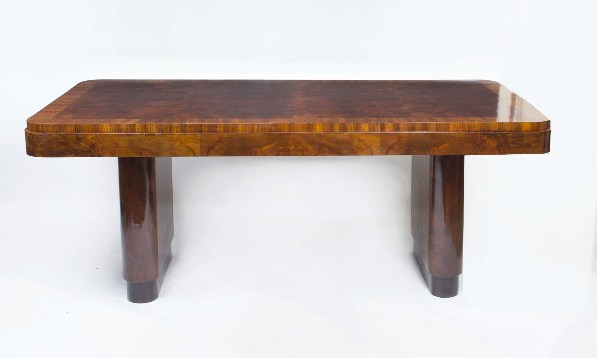 antique art deco walnut rosewood dining table c1920 ref no 06769. Black Bedroom Furniture Sets. Home Design Ideas