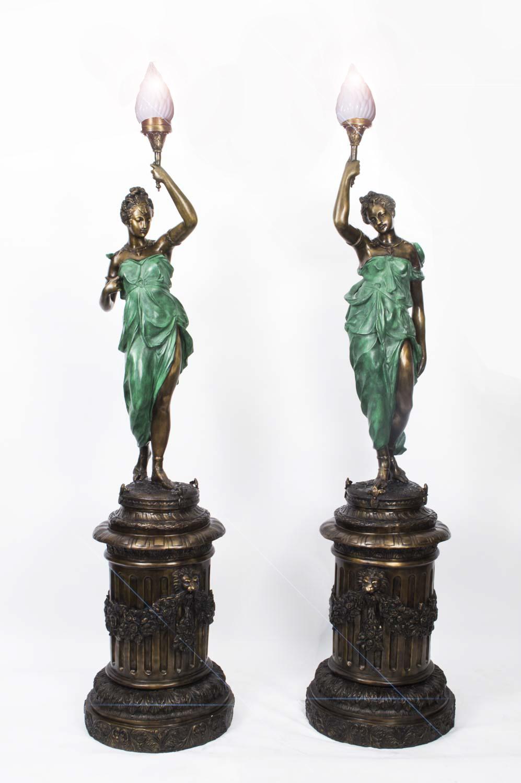 Pair Large Liberty Lady Ref No 06789 Regent Antiques