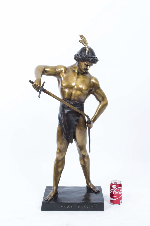 06794 Striking Bronze Roman Gladiator Statue Figure 10