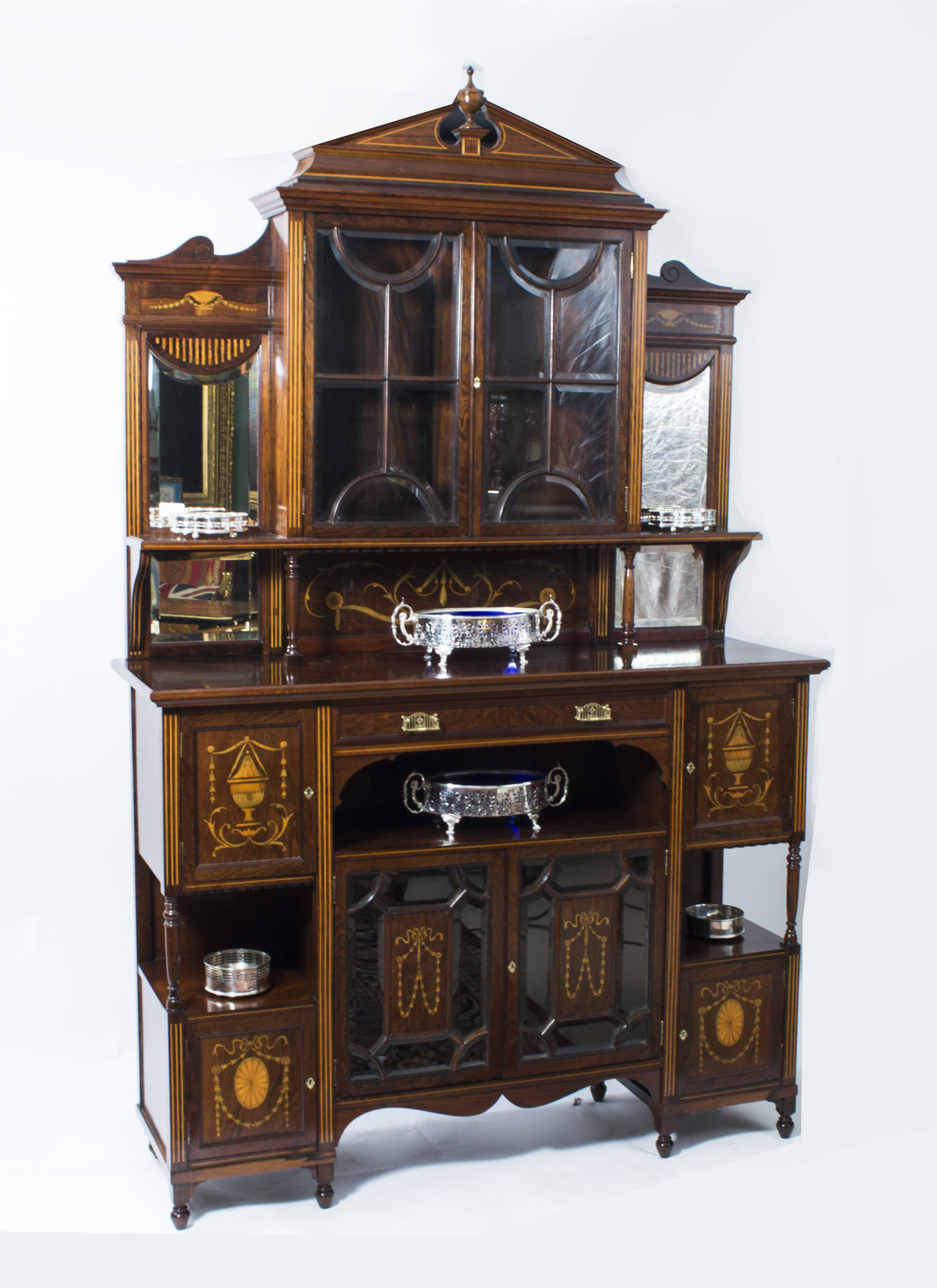 Regent antiques display cabinets antique edwardian for 1890 kitchen cabinets
