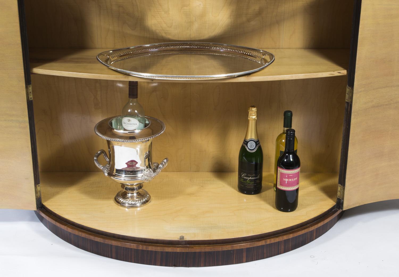 regent antiques cabinets antique art deco burr walnut half moon cocktail bar. Black Bedroom Furniture Sets. Home Design Ideas