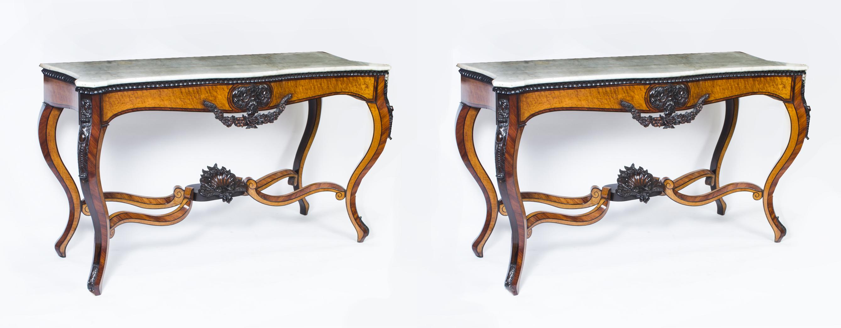 Regent antiques console tables antique pair 5ft6 for 5 foot console table