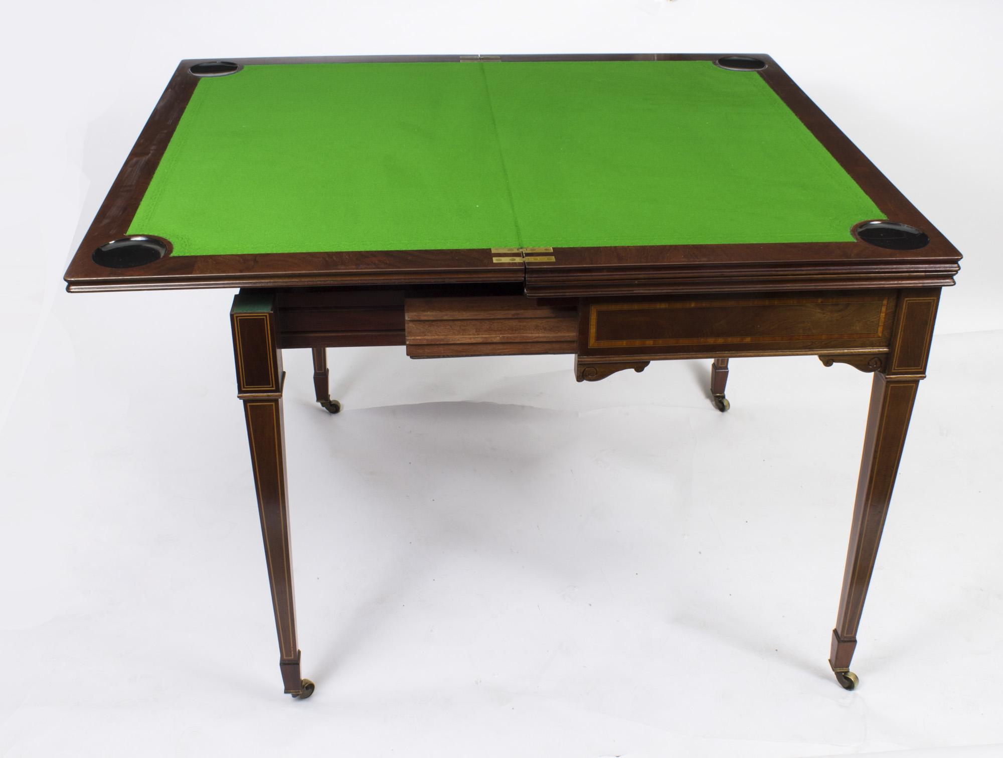 regent antiques card and games tables antique edwardian mahogany games roulette table. Black Bedroom Furniture Sets. Home Design Ideas