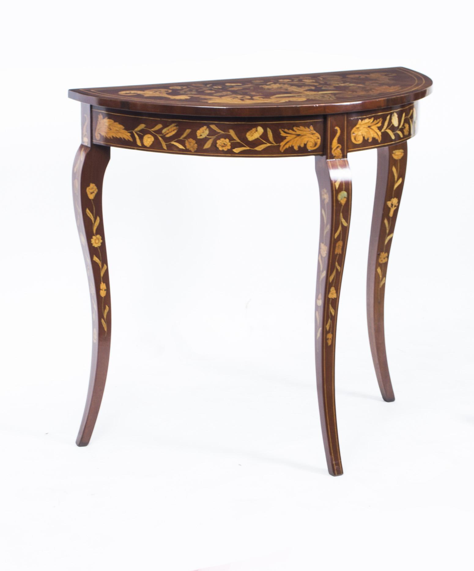 regent antiques console tables antique dutch marquetry console table c1780. Black Bedroom Furniture Sets. Home Design Ideas