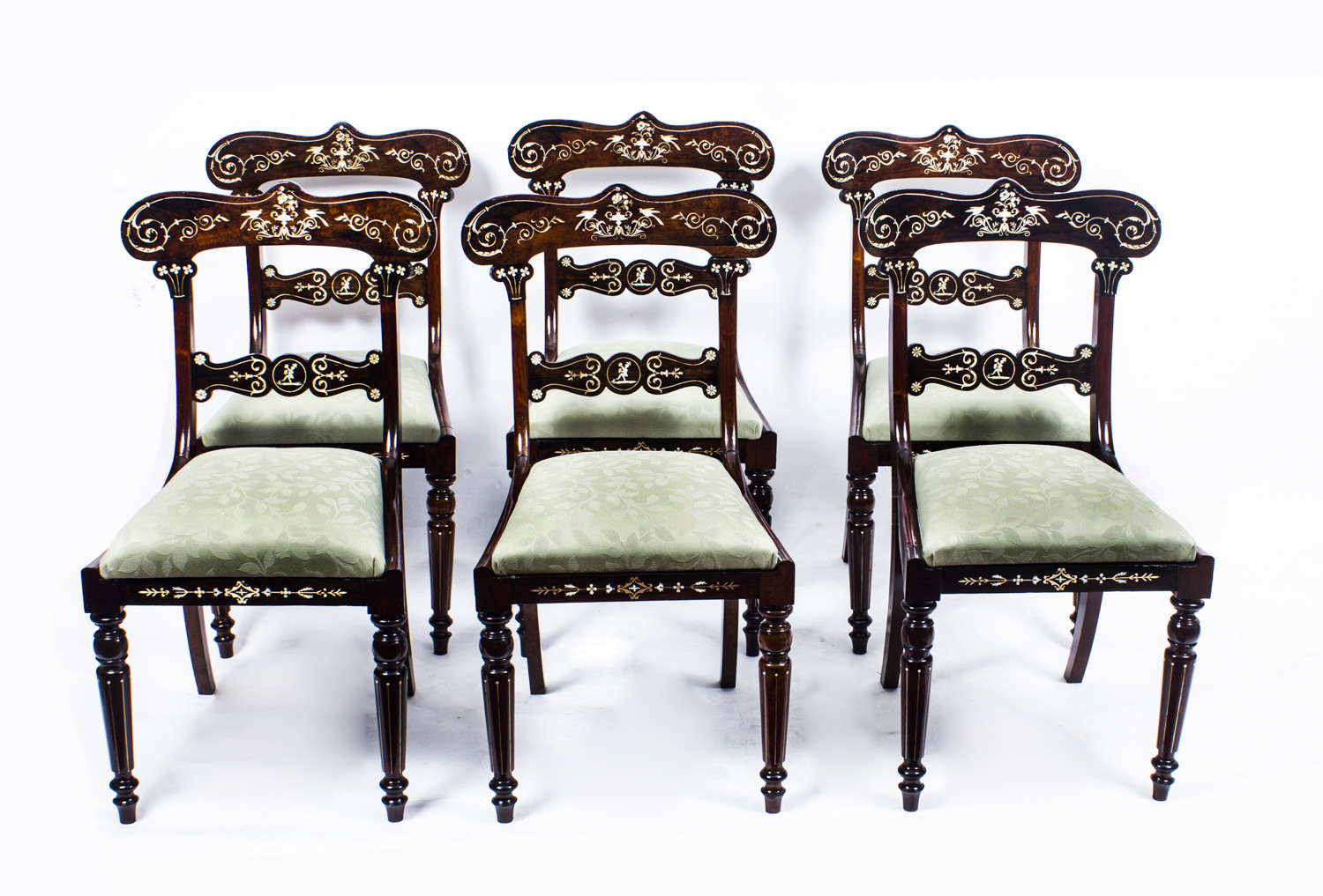 Antique Set 6 Regency Inlaid Rosewood Dining Chairs c1820 : 07107w Antique Set 6 Regency Inlaid Rosewood Dining Chairs c1820 1 from www.regentantiques.com size 1500 x 1017 jpeg 759kB