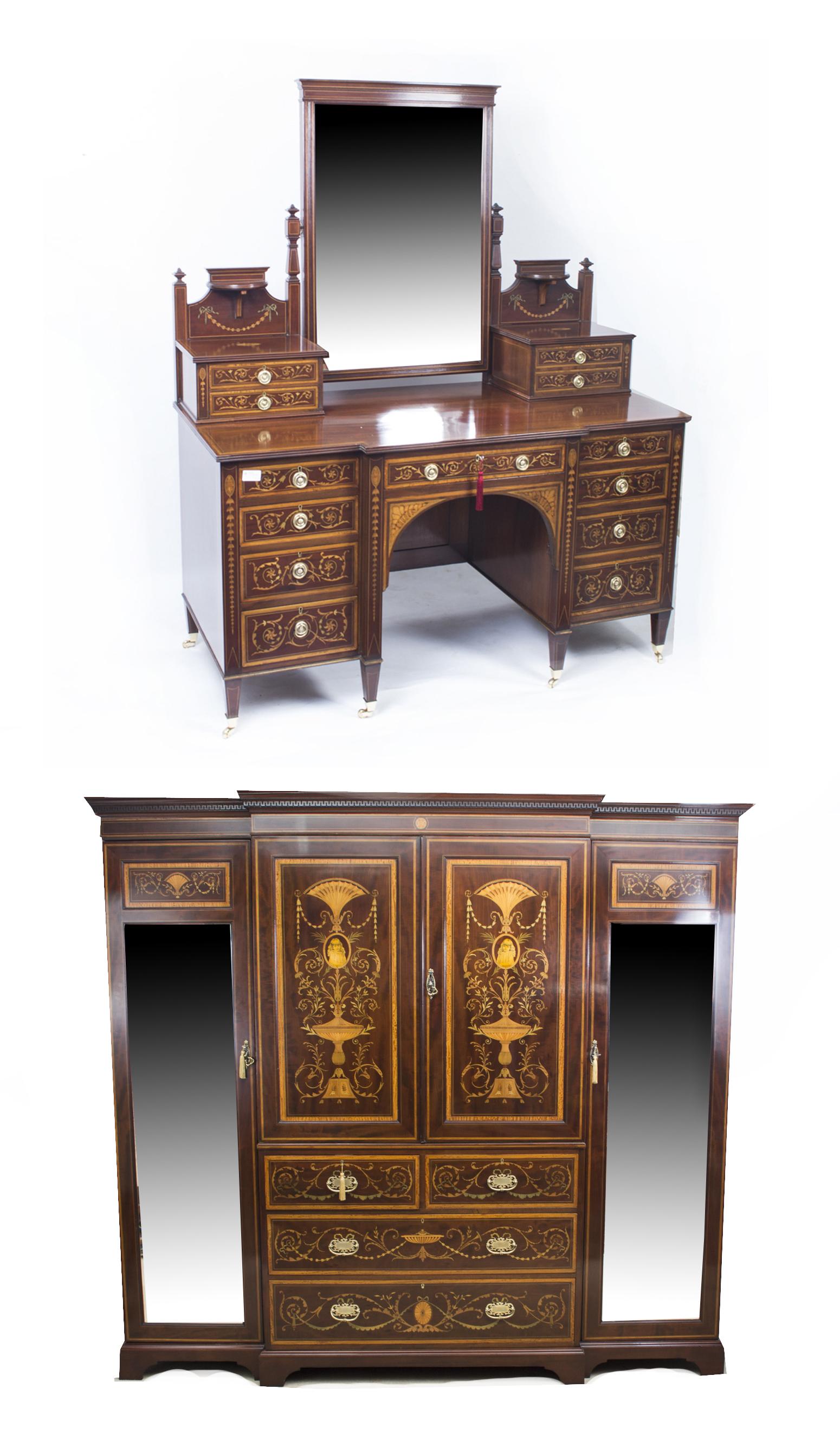 Antique victorian bedroom suite maple co ref no 07126 for Vintage bedroom suite