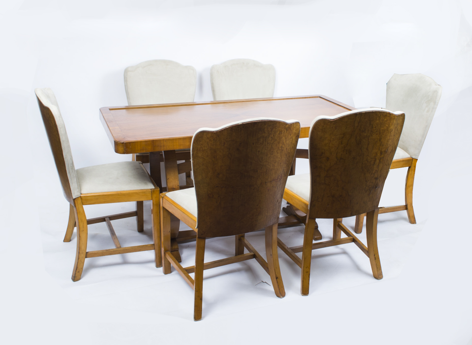 antique art deco dining table 6 chairs c1930 art deco dining 6