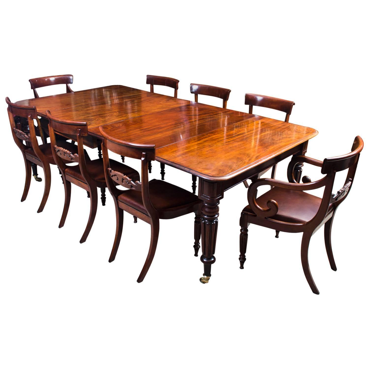 antique regency gillows dining table 8 regency chairs