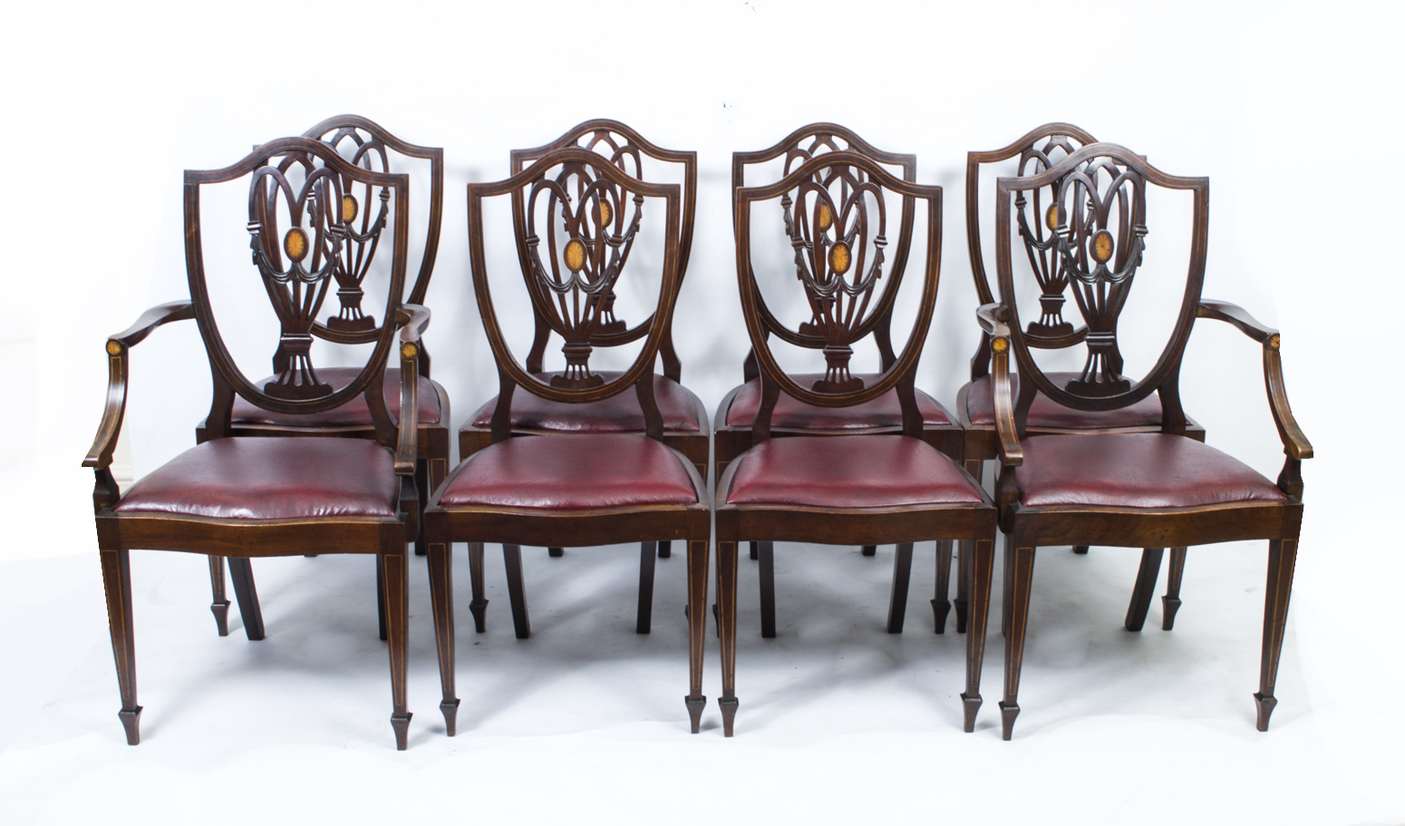 Set 8 English Antique Hepplewhite Dining Chairs | Hepplewhite Style Chairs - Set 8 English Antique Hepplewhite Dining Chairs Hepplewhite