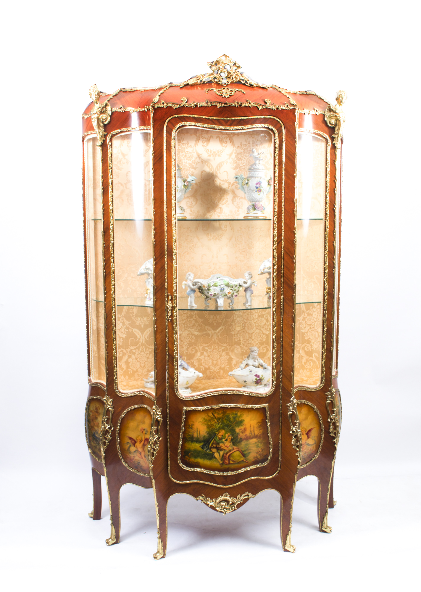 Antique French Large Vernis Martin Display Cabinet C1910 | Ref. no. 07286 - Antique French Large Vernis Martin Display Cabinet C1910 Ref. No
