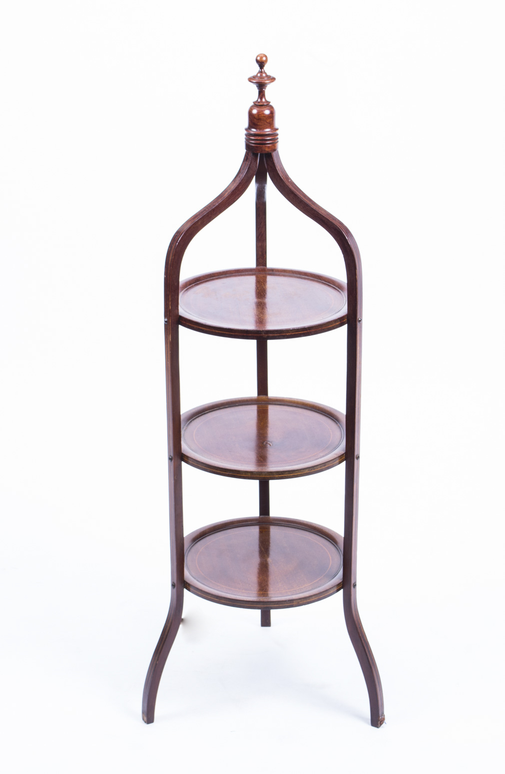 Antique Edwardian Mahogany 3 Tier Cake Stand C 1900 Ref