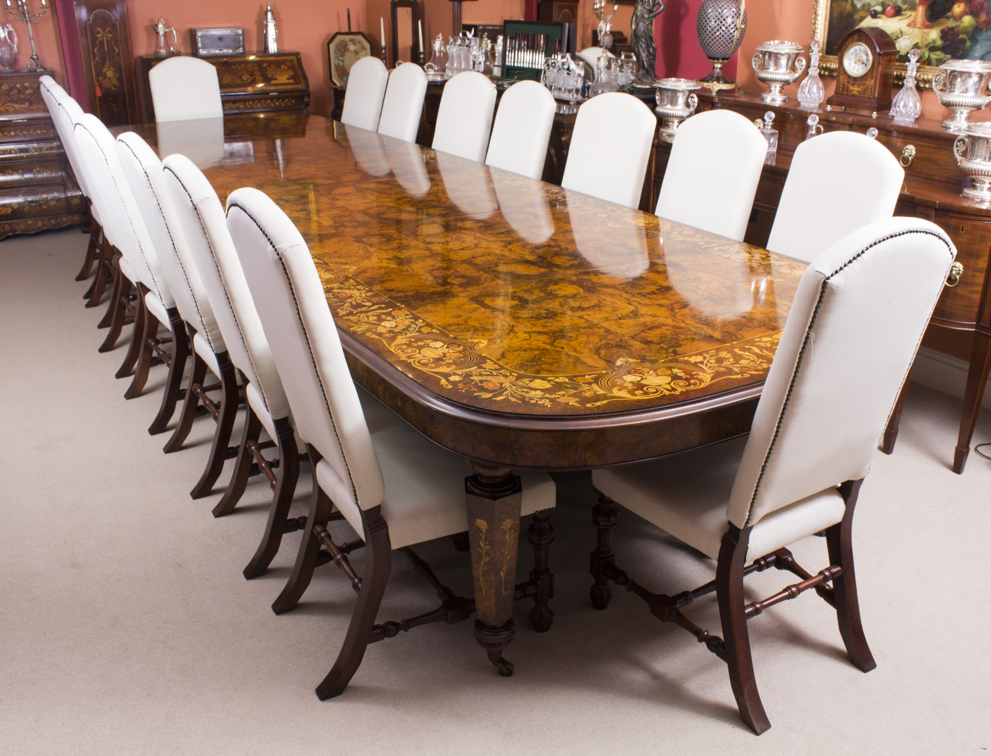 Bespoke dining table design - Large Victorian Dining Table Chairs Set Large Dining Table Chairs