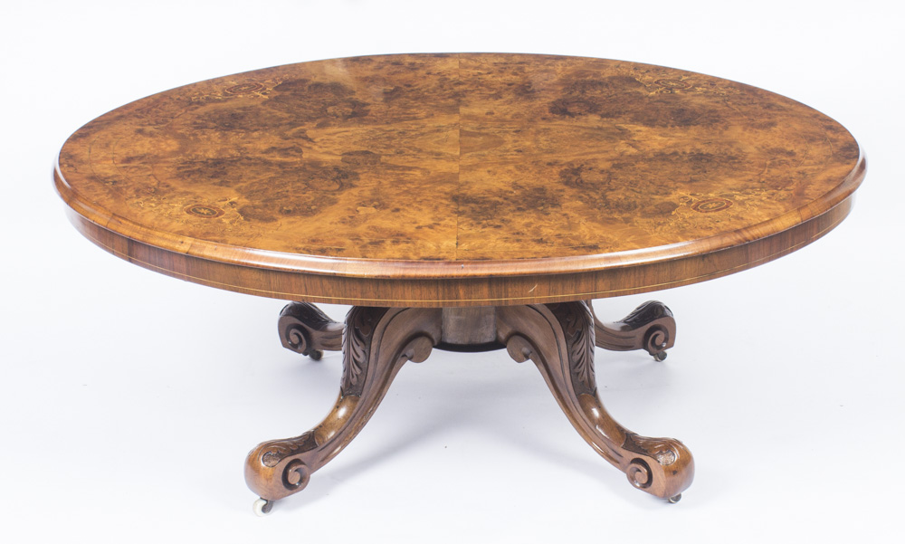 Antique Burr Walnut Ref No 08591 Regent Antiques