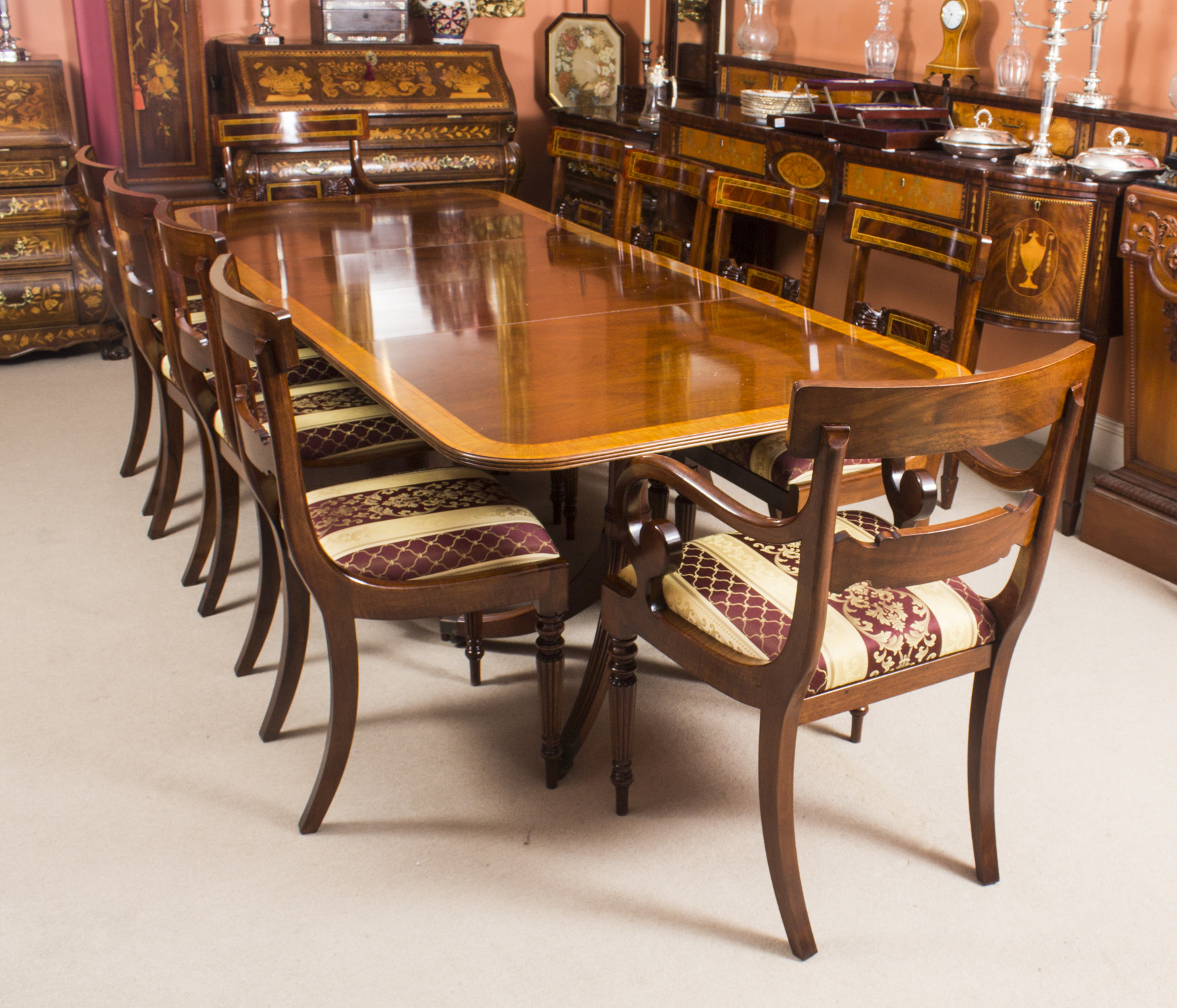 Vintage Dining Table By William Tillman Harrods 10 Chairs