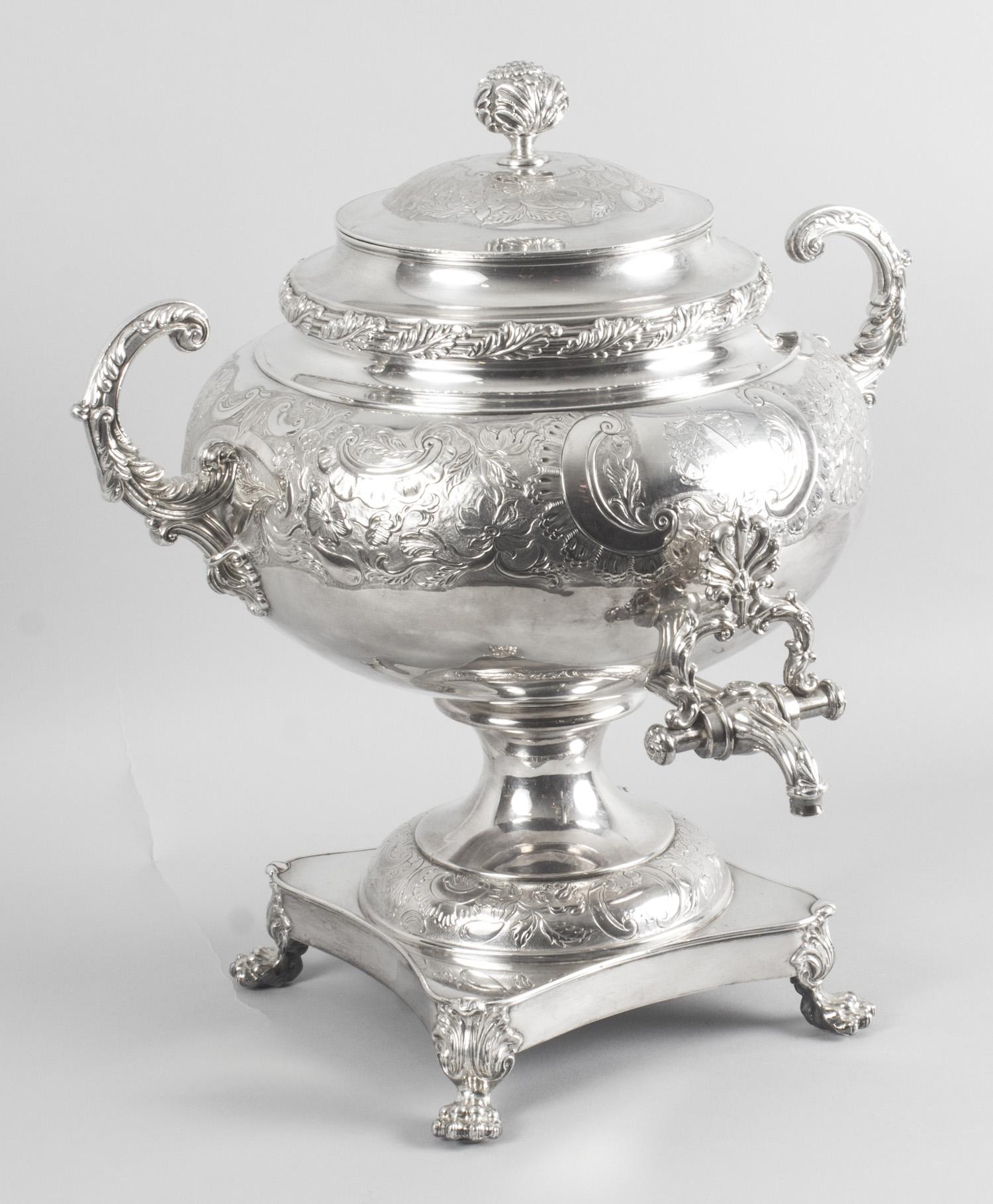 Silver Plated Samovar Ref No 08803 Regent Antiques