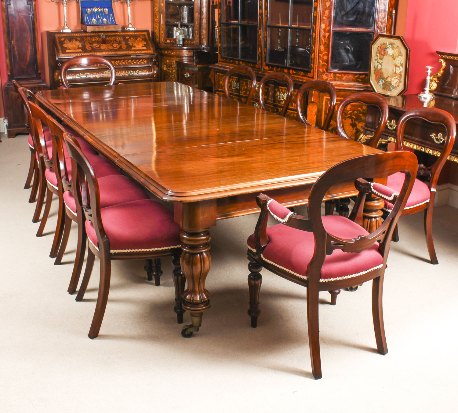 12 Foot Dining Room Tables: Antique 10 Ft Flame
