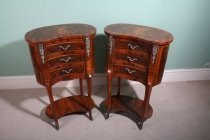 00052-Stunning-Pair-French-Walnut-Kidney-Bedside-Cabinets