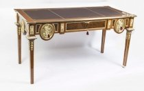Empire Style Walnut Rosewood Ormolu Writing Table