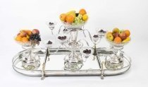 Extravagant English Silver Plate Glass Centrepiece Set