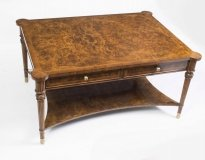 01410-Elegant-Burr-Walnut-Coffee-Table-With-Four-Drawers