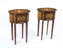 01431-Stunning-Pair-Parquetry-Side-Tables-Bedside-Cabinets