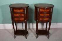 01489-Pair-Oval-Walnut-&-Maple-Side-Tables-Bedside-Cabinets